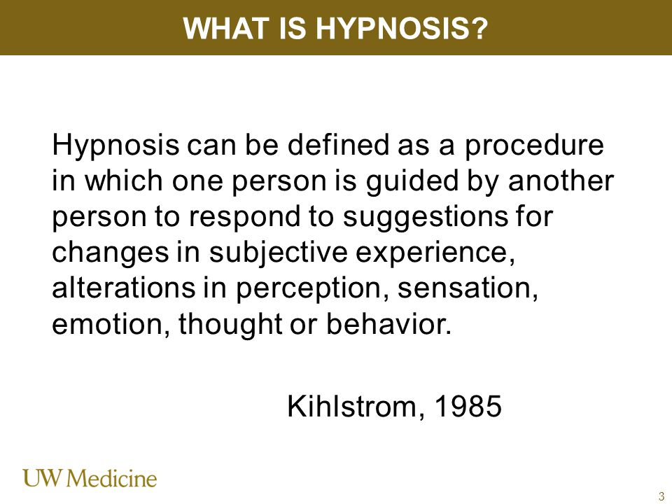 Jensen (NIH) – 37 patients with SCI and chronic pain were assigned to either hypnosis or EMG- assisted relaxation.