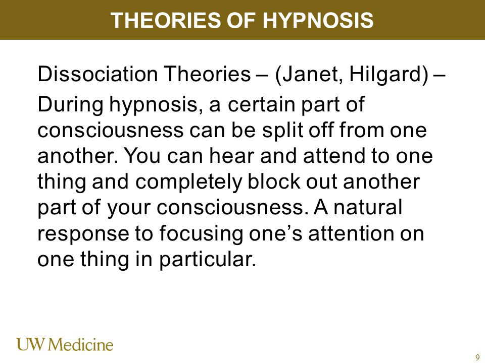 MYTHS OF HYPNOSIS You must remember everything that the clinician has told you in order to benefit.