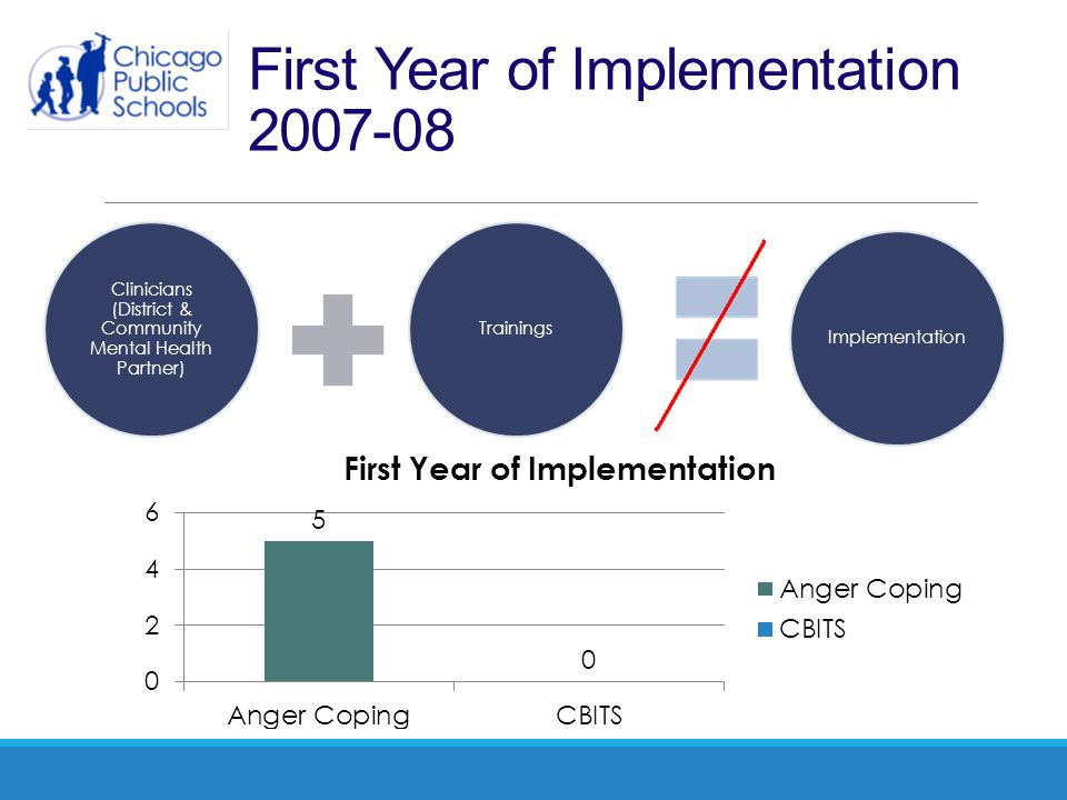 First Year of Implementation 2007-08 Clinicians (District & Community Mental Health Partner) TrainingsImplementation