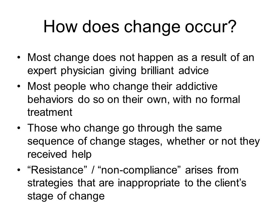 How does change occur.