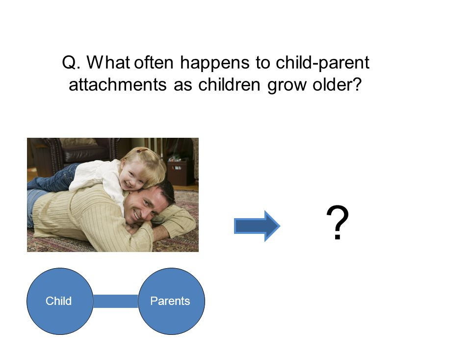Q. What often happens to child-parent attachments as children grow older? ? ChildParents