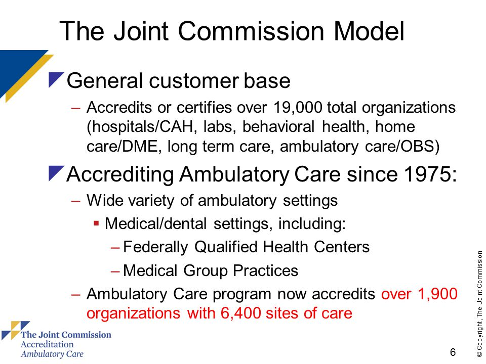 17 © Copyright, The Joint Commission Using AHRQ Definition of Medical Home