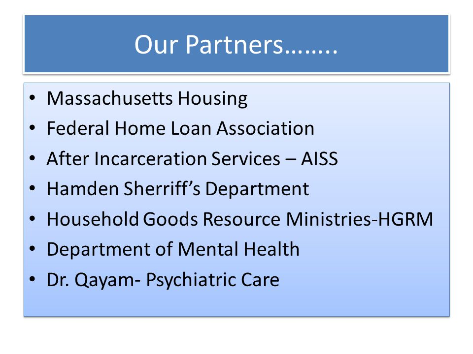 Our Partners……..