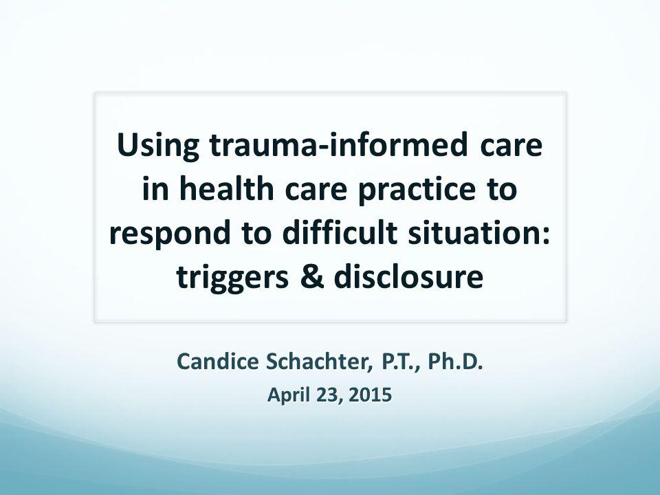 Candice Schachter, P.T., Ph.D.