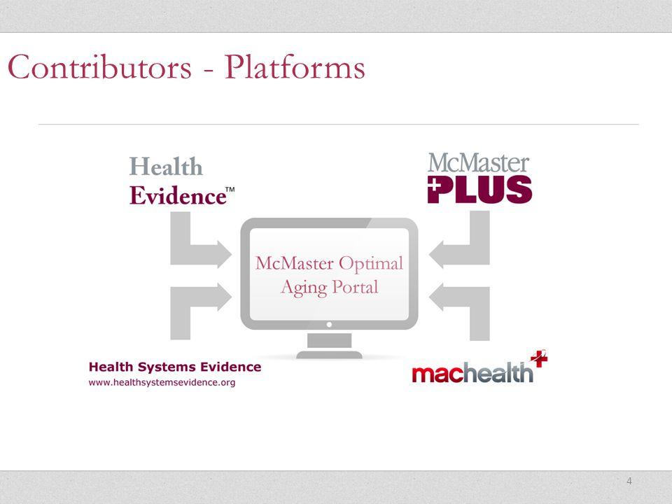 4 Contributors - Platforms
