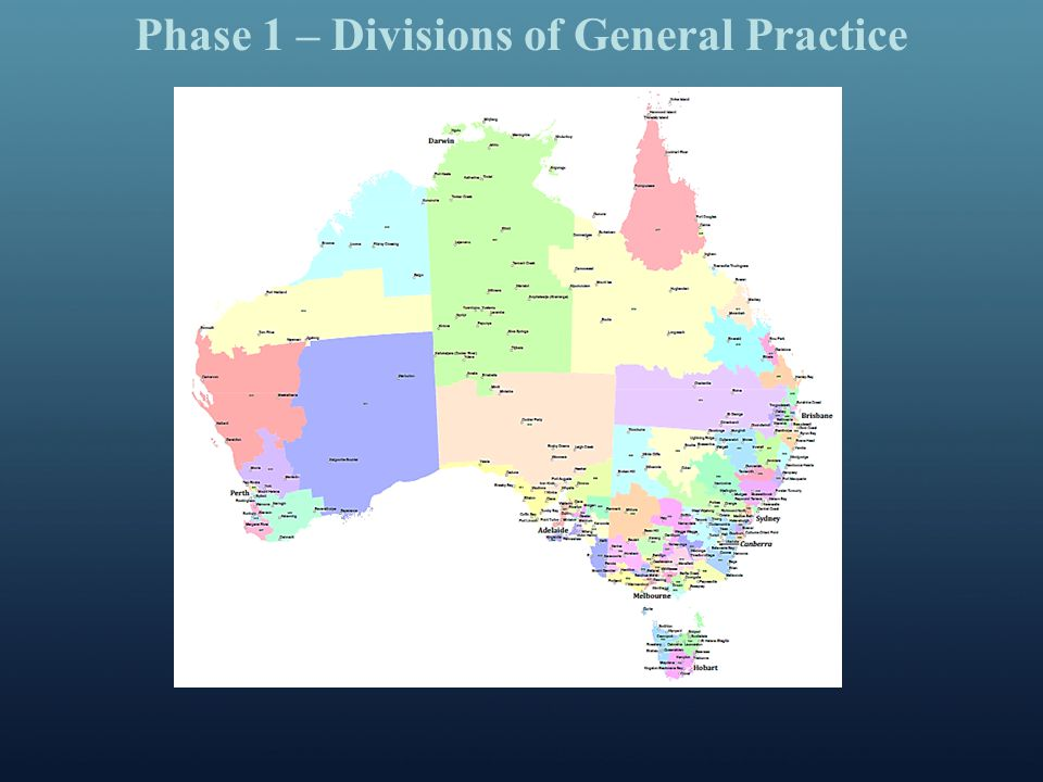 Phase 1 – Divisions of General Practice