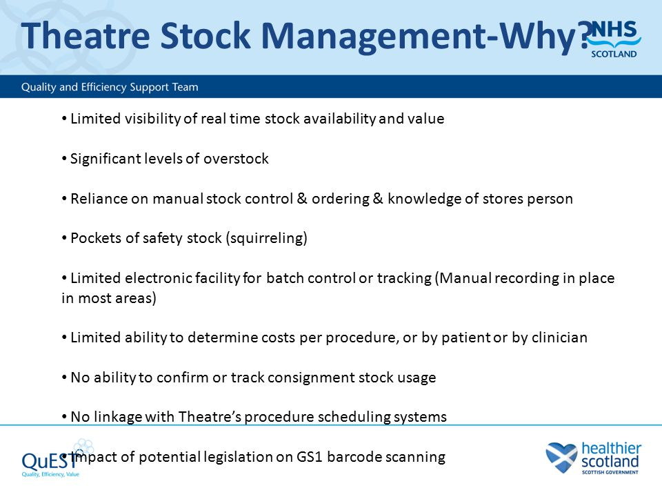 Theatre Stock Management-Why.