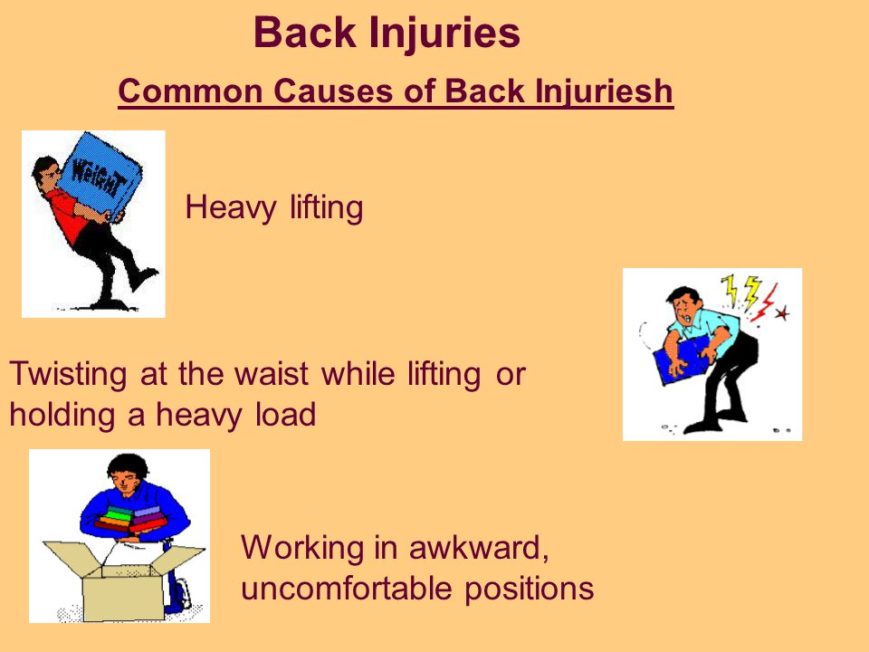 Back injuries are considered by OSHA (Occupational Safety and Health Administration) as the nation's #1 workplace safety problem. Back injuries are of