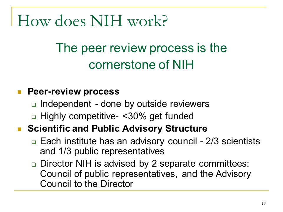 10 How does NIH work.