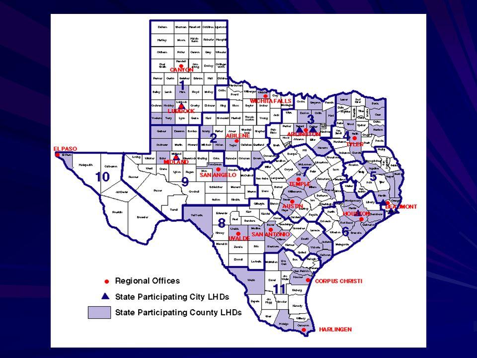 Texas Public Health Regions