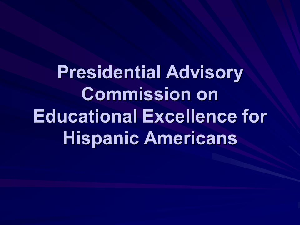 Presidential Advisory Commission on Educational Excellence for Hispanic Americans