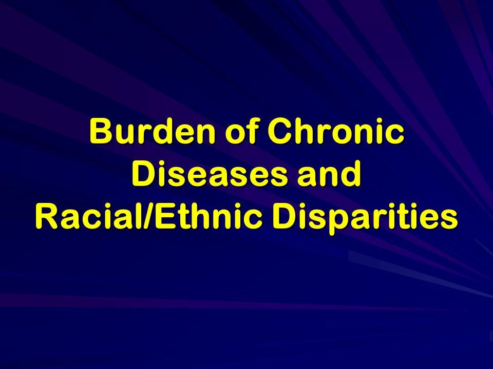 Burden of Chronic Diseases and Racial/Ethnic Disparities