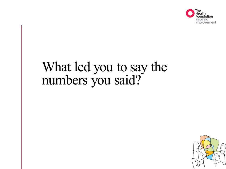 What led you to say the numbers you said?