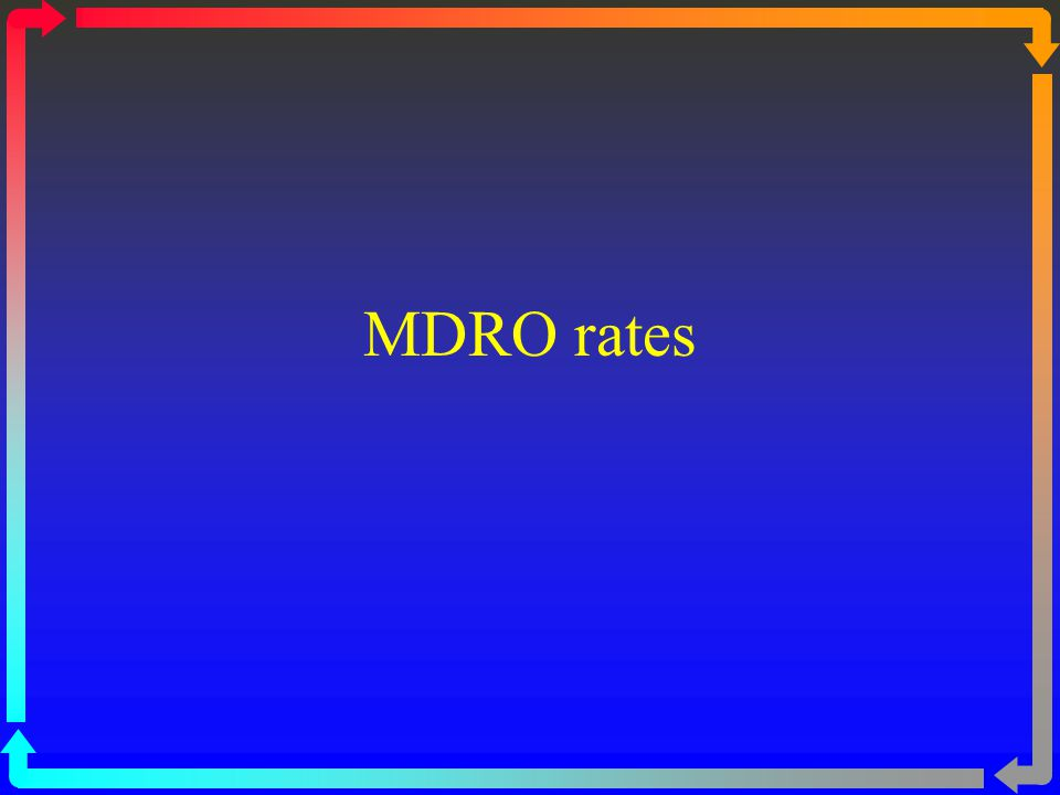 MDRO rates