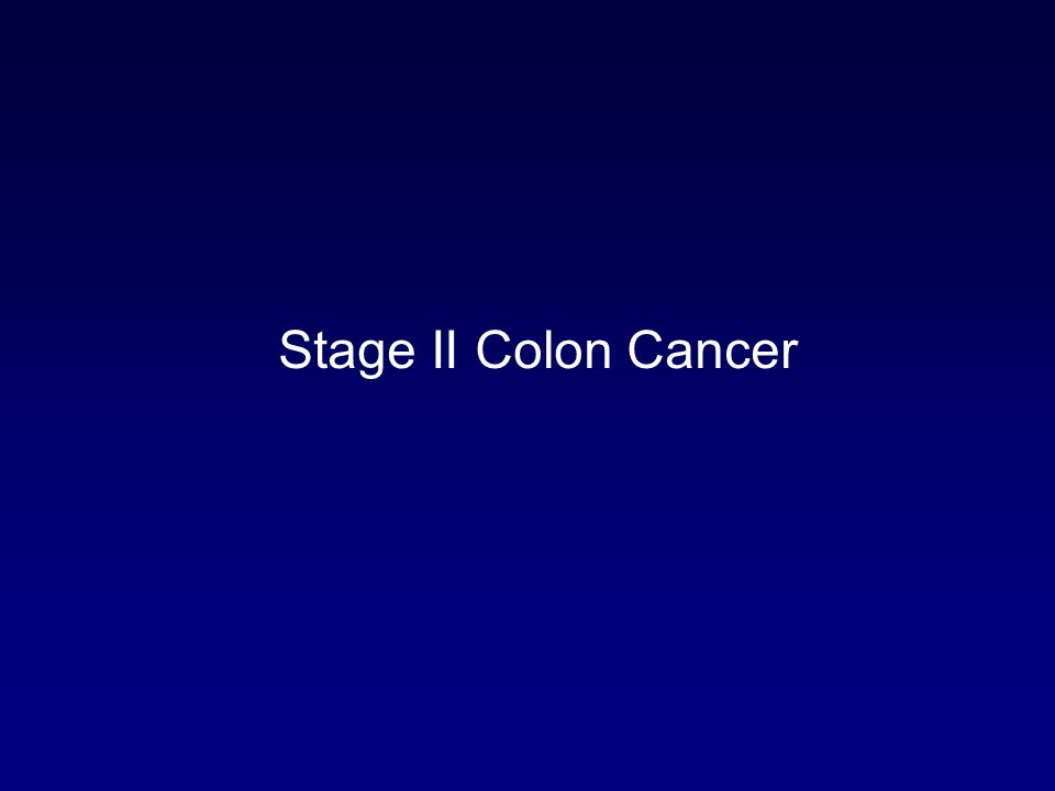 Stage II Colon Cancer