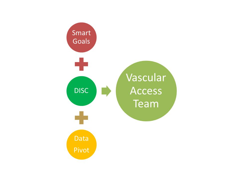 Smart Goals DISC Data Pivot Vascular Access Team