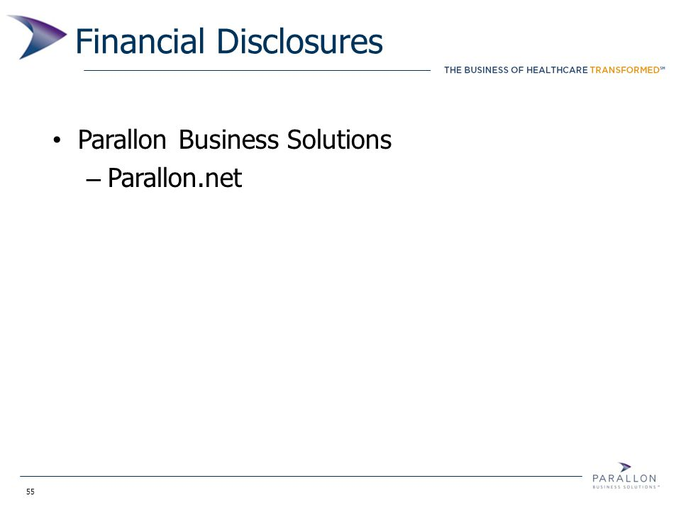 55 Financial Disclosures Parallon Business Solutions – Parallon.net