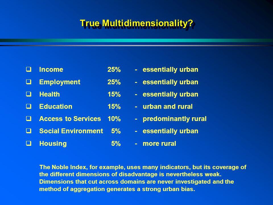 True Multidimensionality.