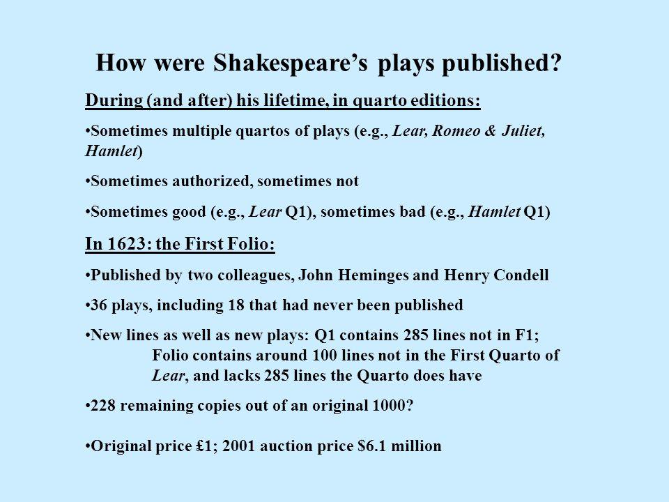 Shakespeare—First Folio edition, 1623