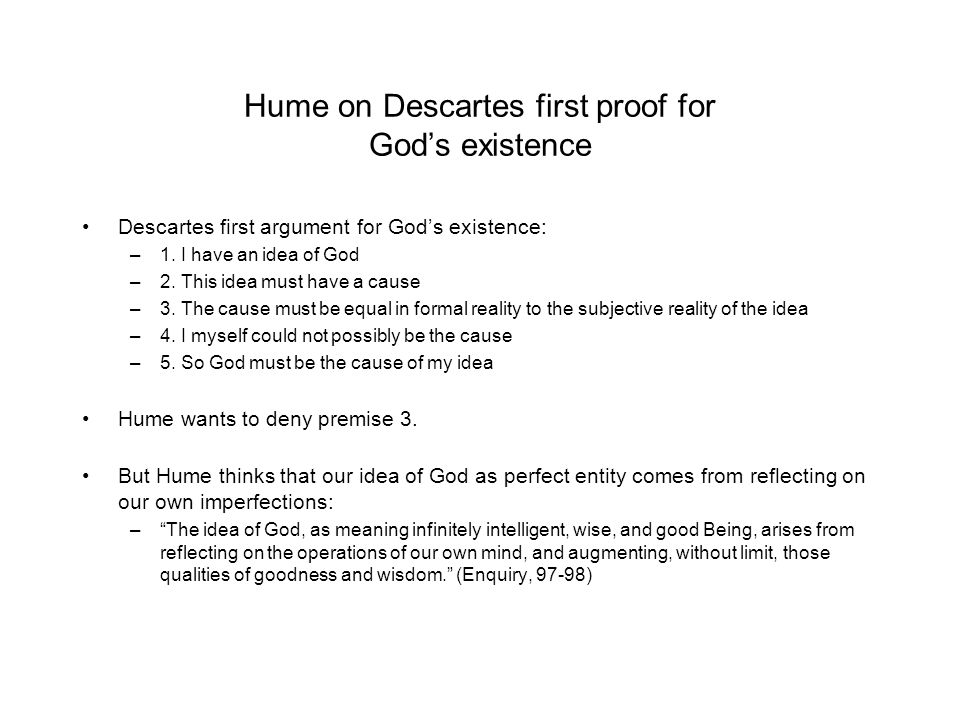 descartes proof god existence human error Descartes' proof for the existence of god is an elaboration of the ontological argument first proposed by st.