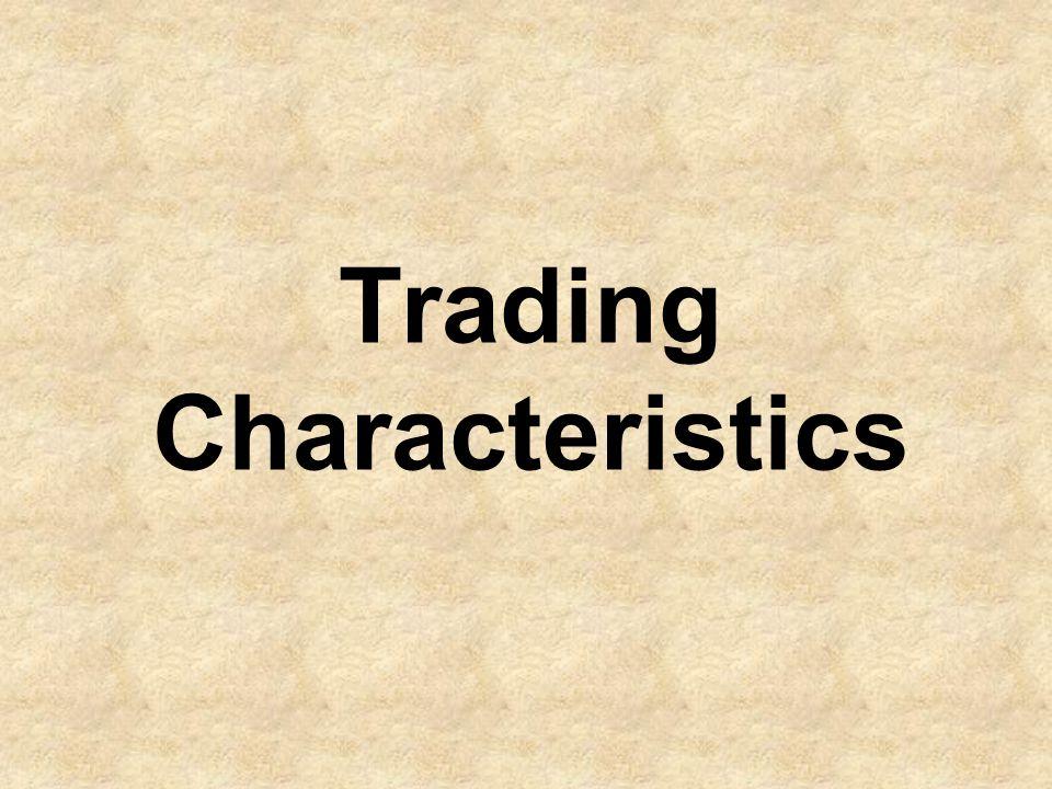 Trading Characteristics