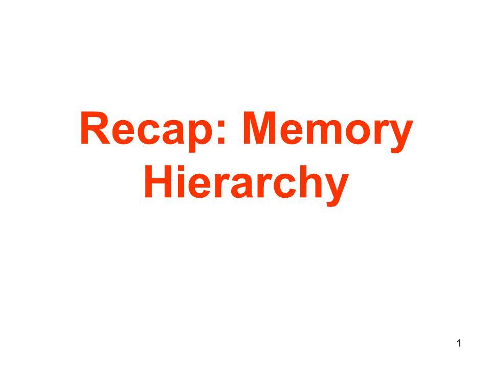 1 Recap: Memory Hierarchy