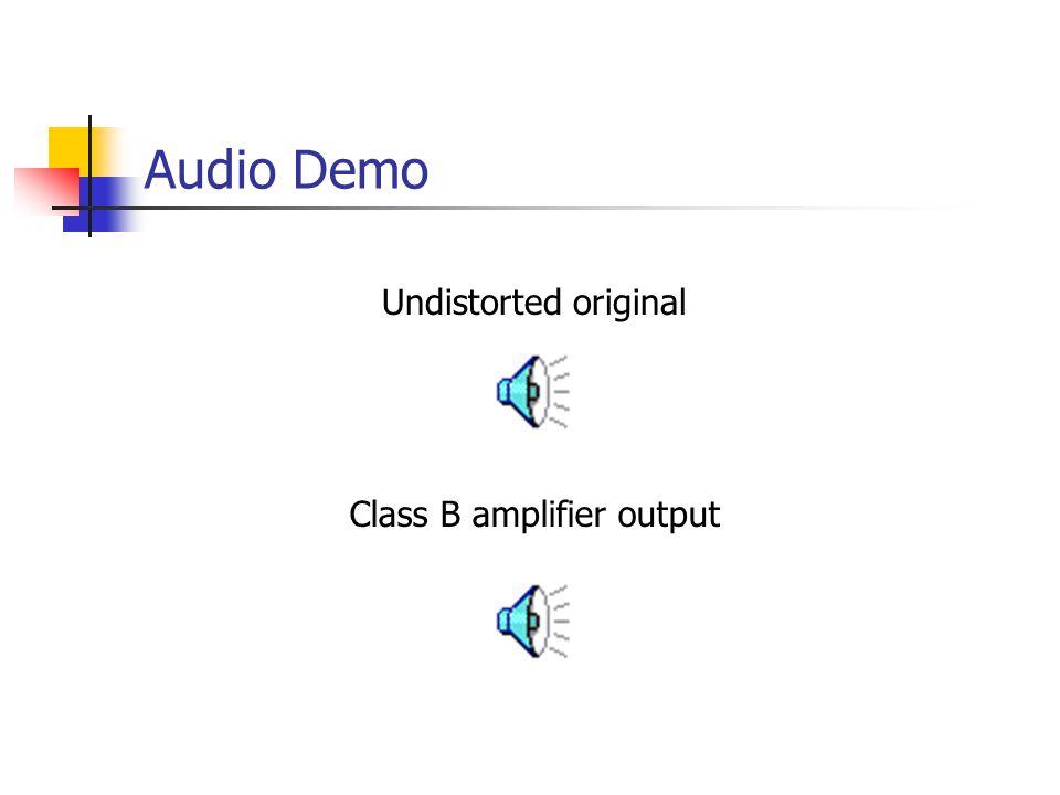 Audio Demo Undistorted original Class B amplifier output