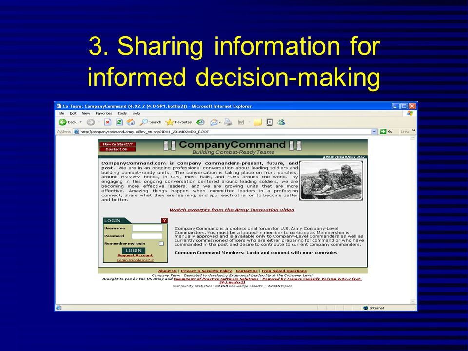 3. Sharing information for informed decision-making