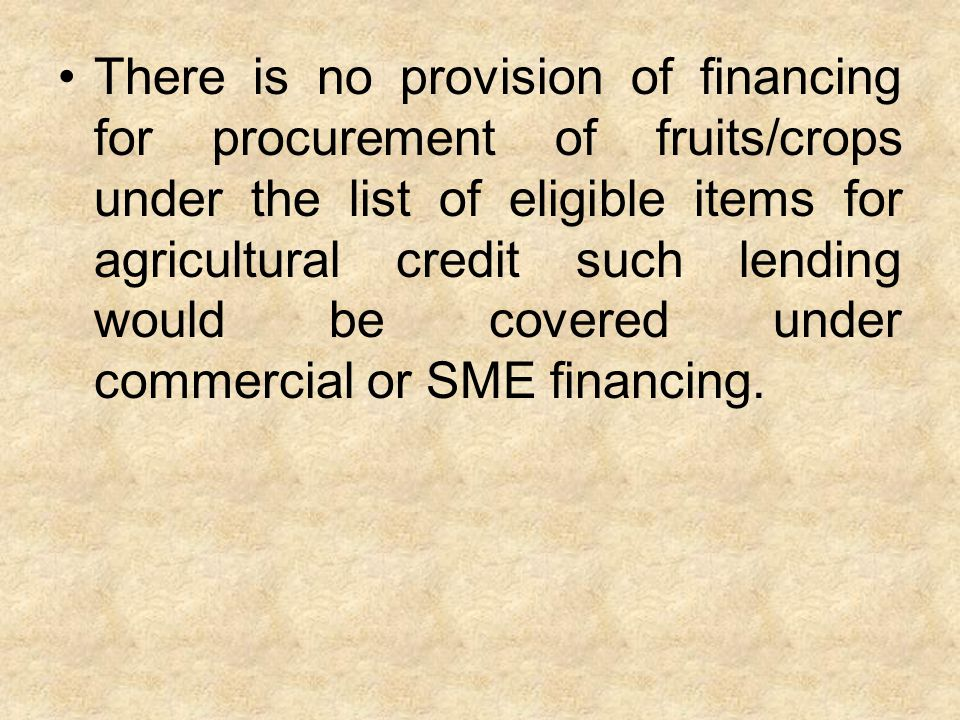 What types of loans are provided to farmers/growers by banks?