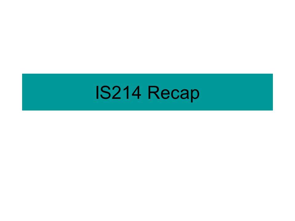 IS214 Recap