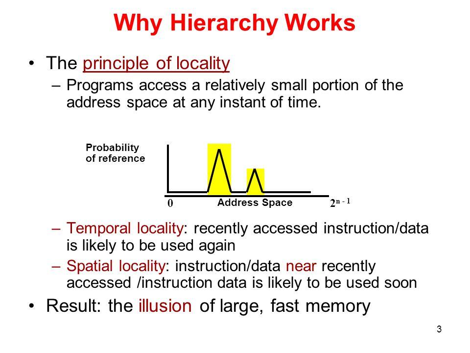 4 Example of Locality int A[100], B[100], C[100], D; for (i=0; i<100; i++) { C[i] = A[i] * B[i] + D; } A[0]A[1]A[2]A[3]A[5]A[6]A[7]A[4] A[96]A[97]A[98]A[99]B[1]B[2]B[3]B[0].......