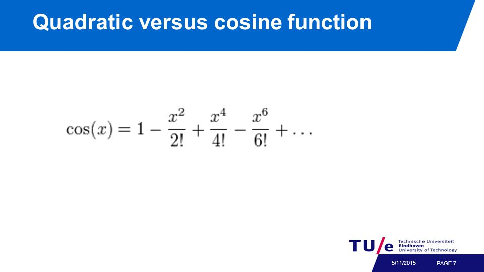 Quadratic versus cosine function PAGE 7 5/11/2015