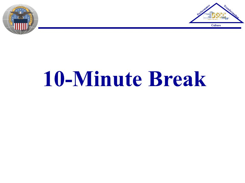 10-Minute Break Performance Transformation Culture