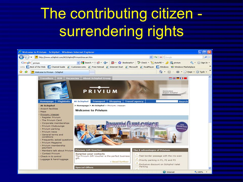 The contributing citizen - surrendering rights
