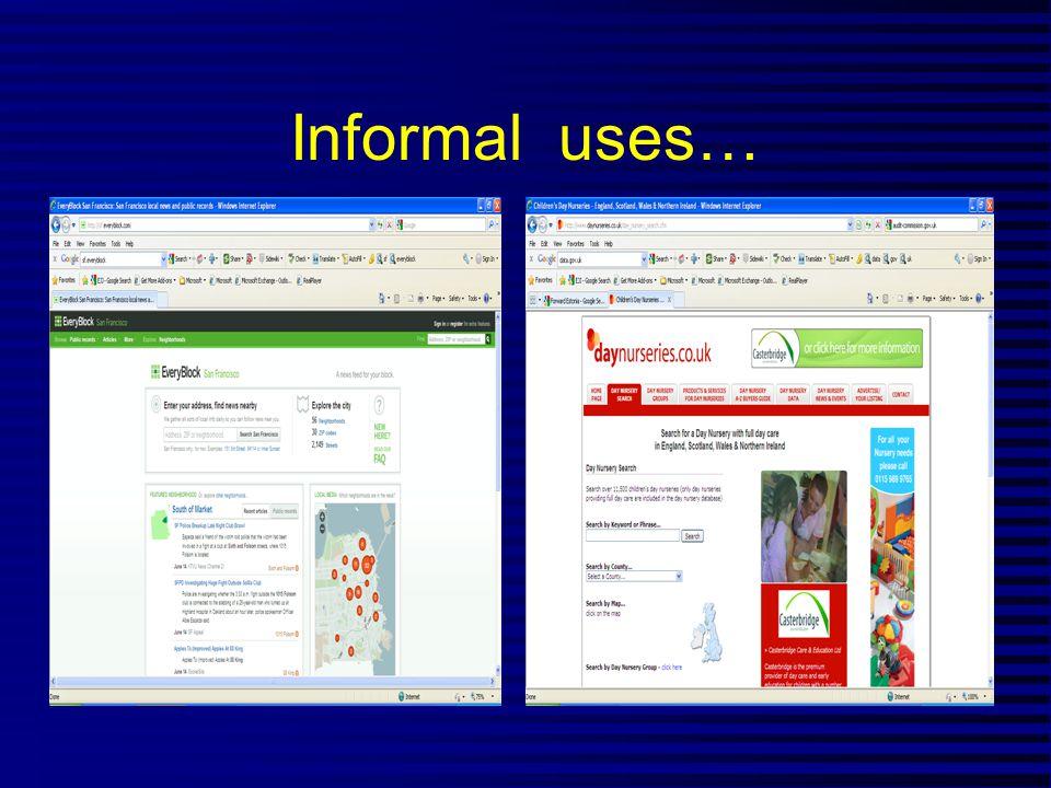 Informal uses…