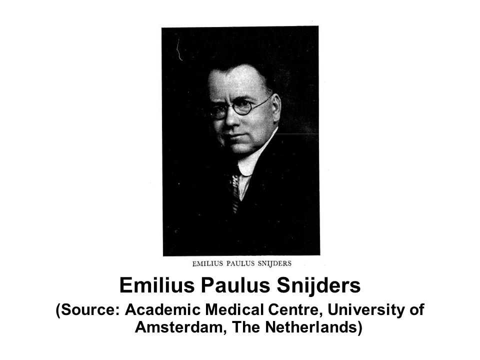 Emilius Paulus Snijders (Source: Academic Medical Centre, University of Amsterdam, The Netherlands)