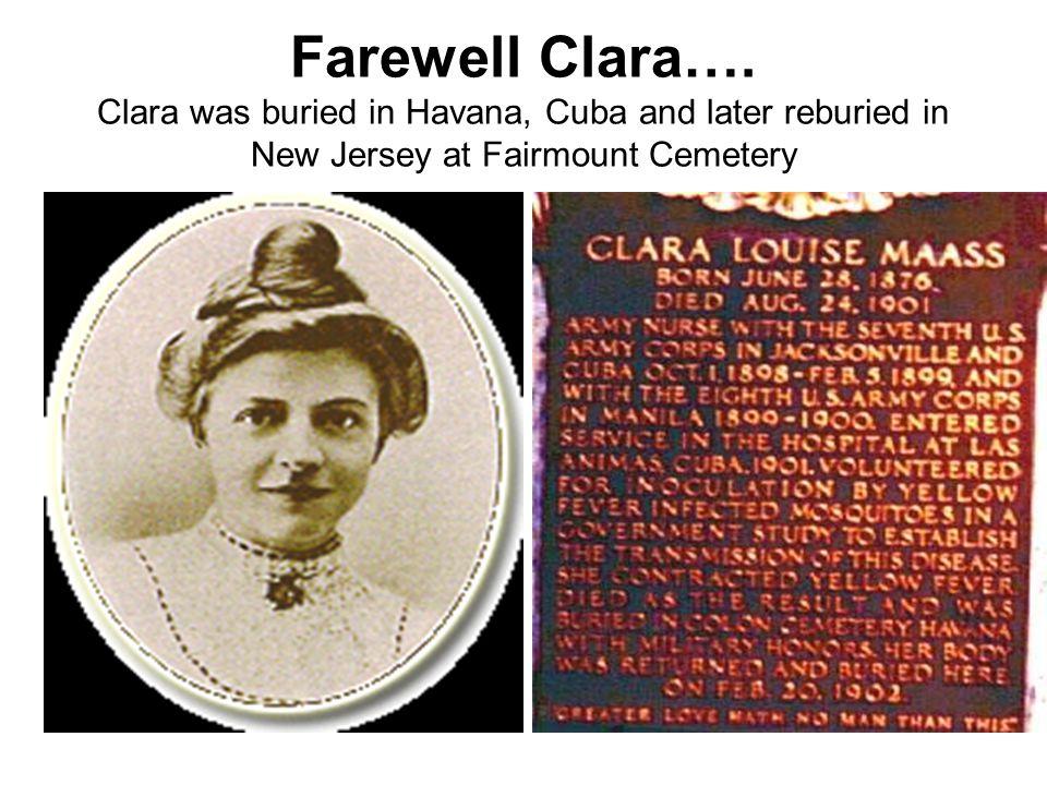 Farewell Clara….