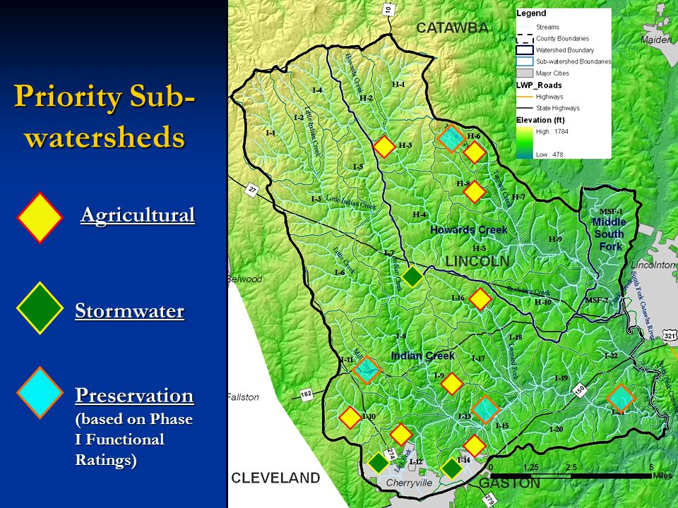 Priority Sub- watersheds Agricultural Stormwater Preservation (based on Phase I Functional Ratings)