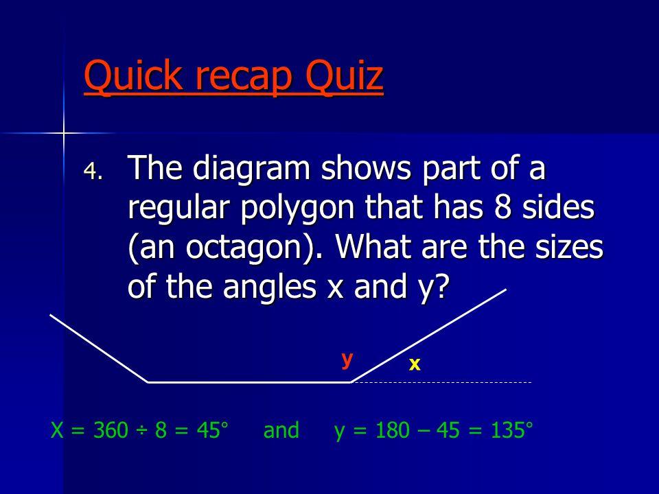 Quick recap Quiz - ANSWERS 5.Look at the diagrams below.