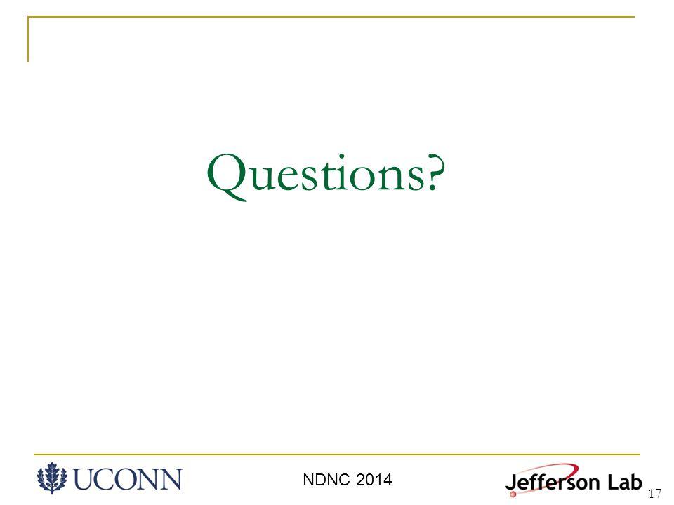 17 Questions NDNC 2014