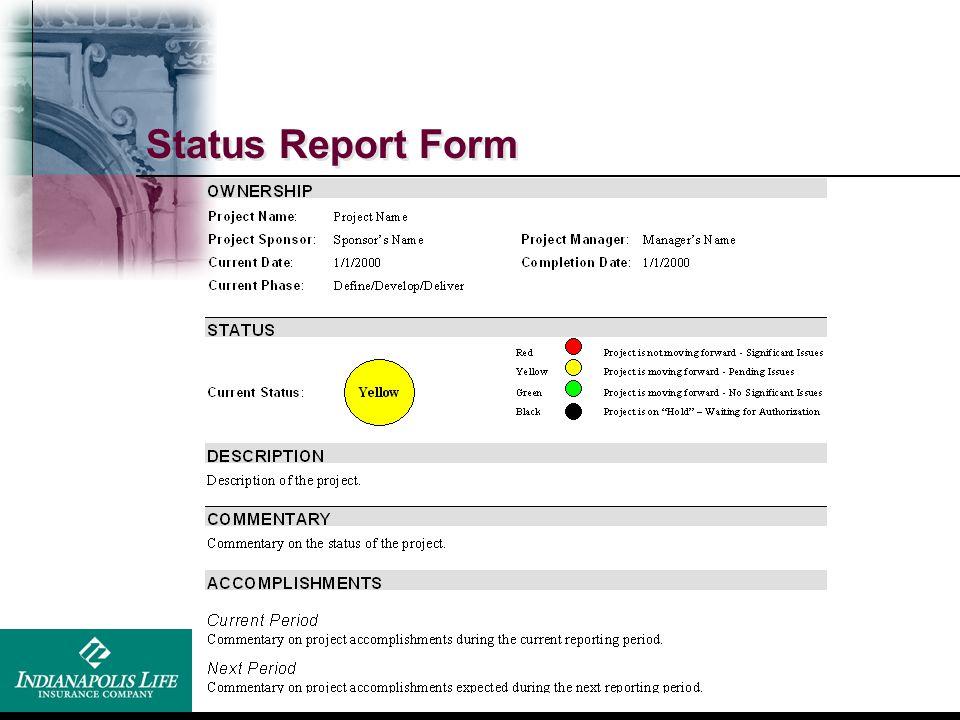 Status Report Form