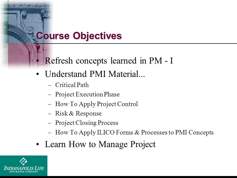 Recap - Course I Initiation & Planning