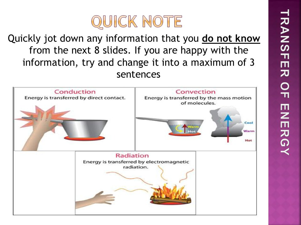 Quickly jot down any information that you do not know from the next 8 slides.