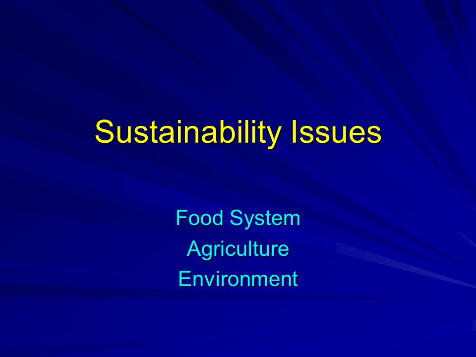 Systems Perspective A systems perspective is essential to understanding sustainability.