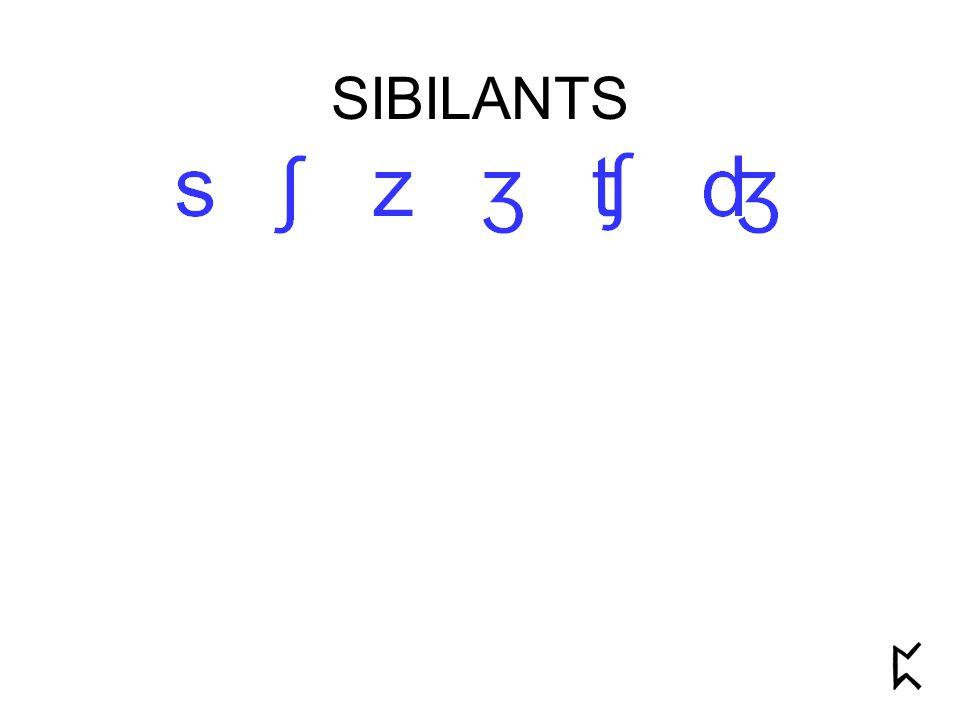 SIBILANTS