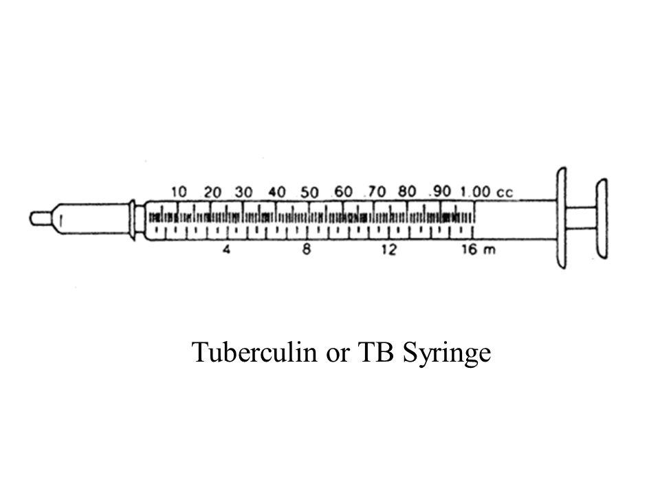 Tuberculin or TB Syringe