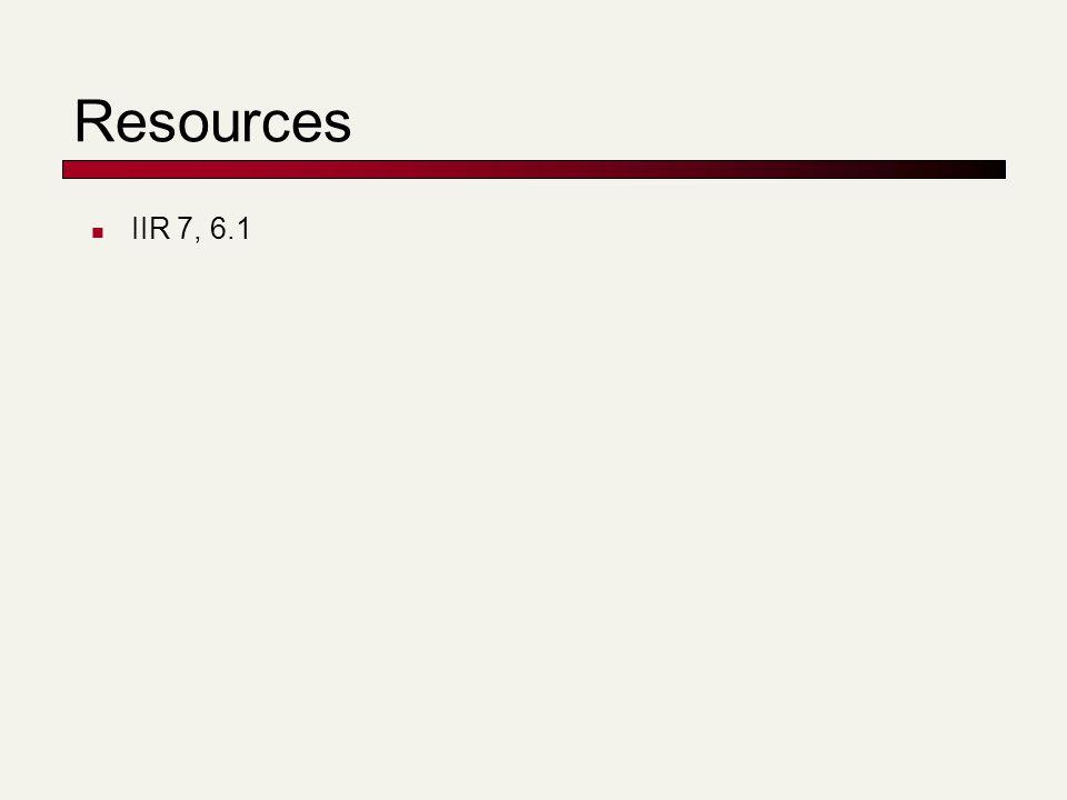 Resources IIR 7, 6.1
