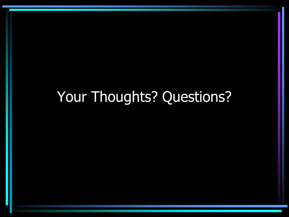 Your Thoughts Questions