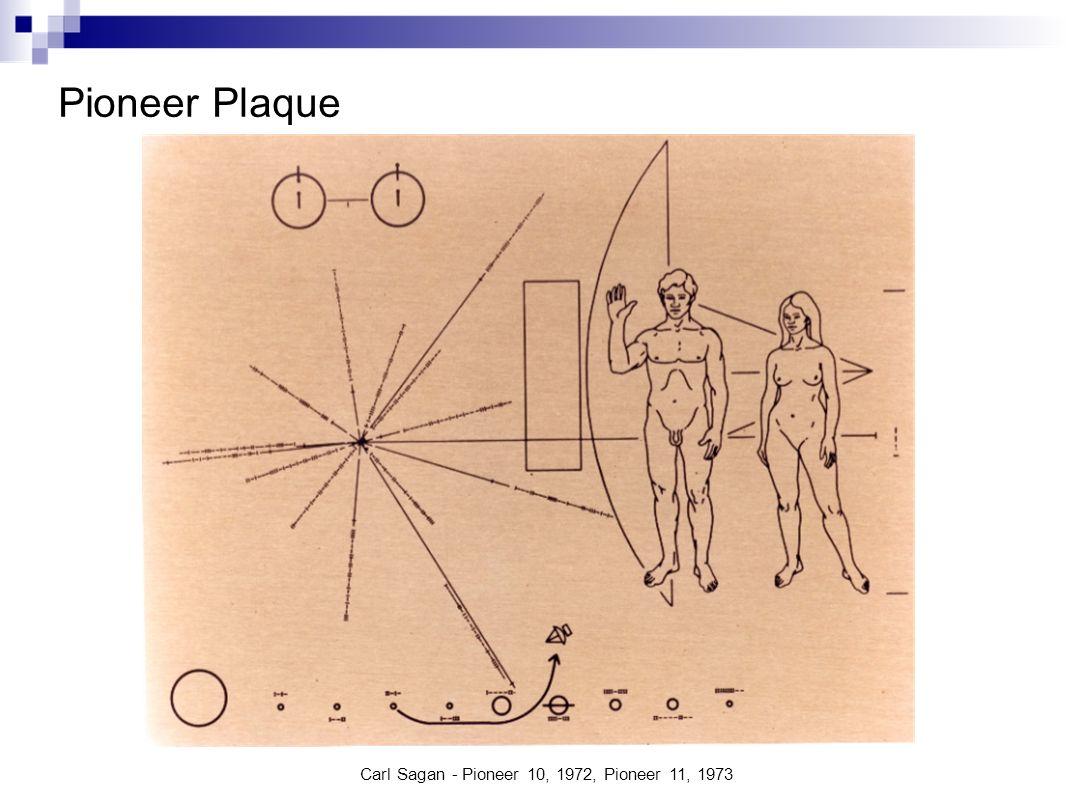 Pioneer Plaque Carl Sagan - Pioneer 10, 1972, Pioneer 11, 1973
