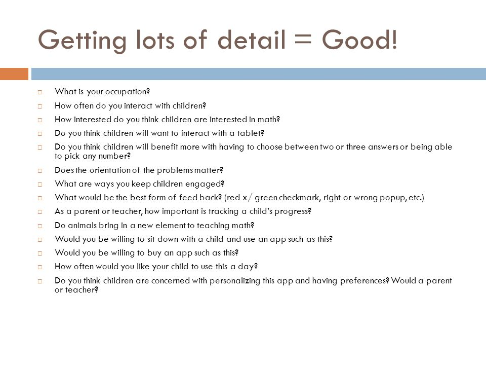 Getting lots of detail = Good.  What is your occupation.